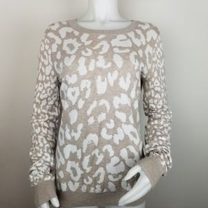 Express Lg Animal Print Lightweight Sweater
